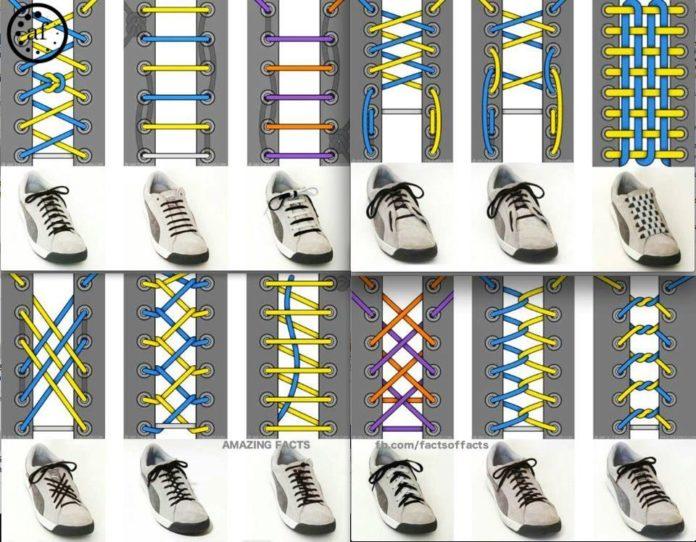 sposoby wiązania sznurówek