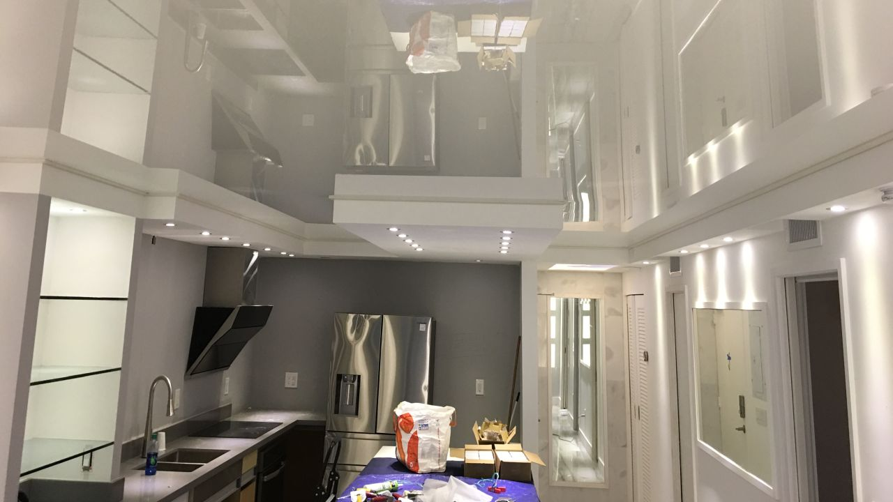 sufit napisany w kuchni