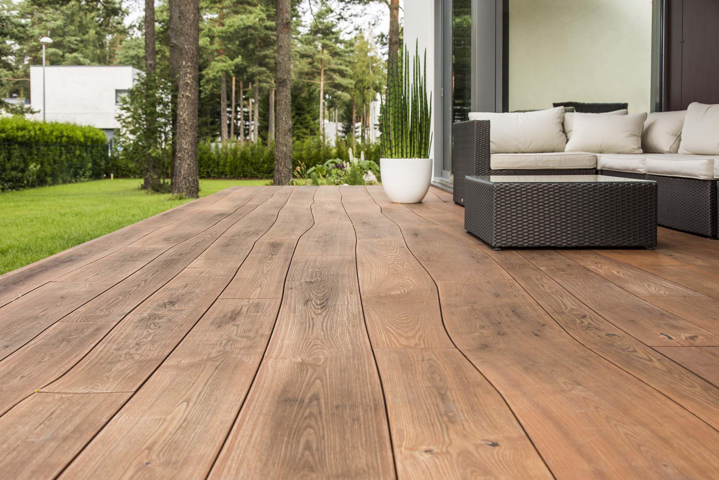 podłoga na taras drewno